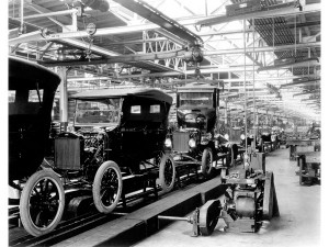 Ford Model T Assembly Line, 1924